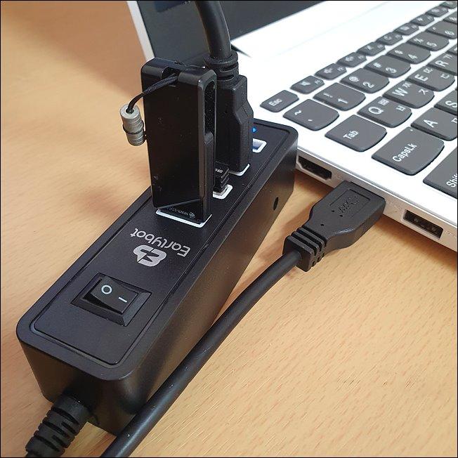 USB3.0 허브 4포트 추천 - USB허브 얼리봇 LHV-300 후기10