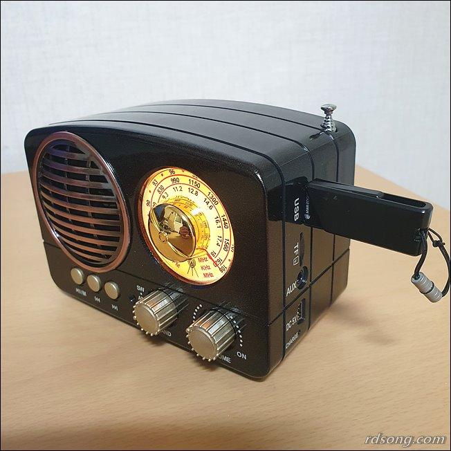 블루투스 스피커 TB280 - 클래식한 휴대용 블루투스 라디오 스피커 후기12