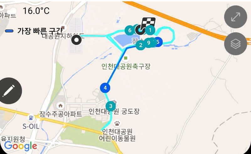 인천대공원 달리기 코스 (10km)