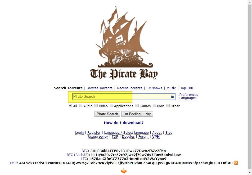 토렌트 pirate bay 사이트