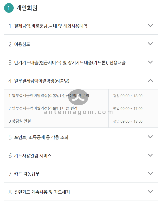 KB국민카드 고객센터 전화번호 / 운영시간 정리