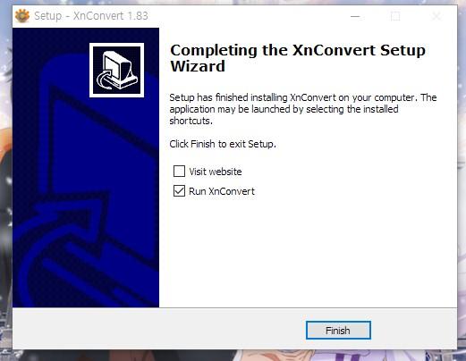 xnconvert 설치 완료