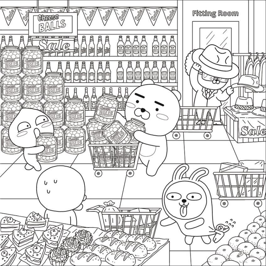 쇼핑하는-라이언-도안-다운로드(이미지-출처: http://papastore.co.kr/)