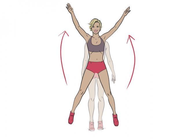 점핑잭 피티체조 팔벌려뛰기 운동 방법