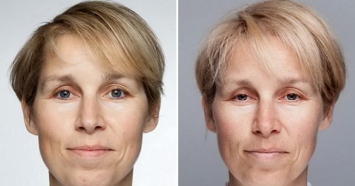 여성의-얼굴을-비교한-사진
