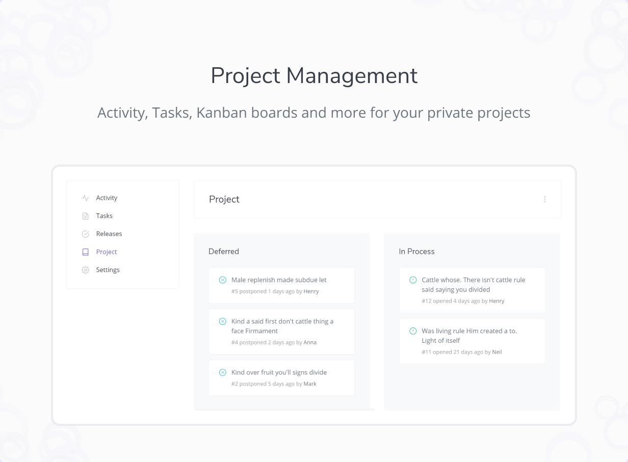 React 어드민 대시보드 RootUI 무료 다운로드 - 프로젝트 관리자