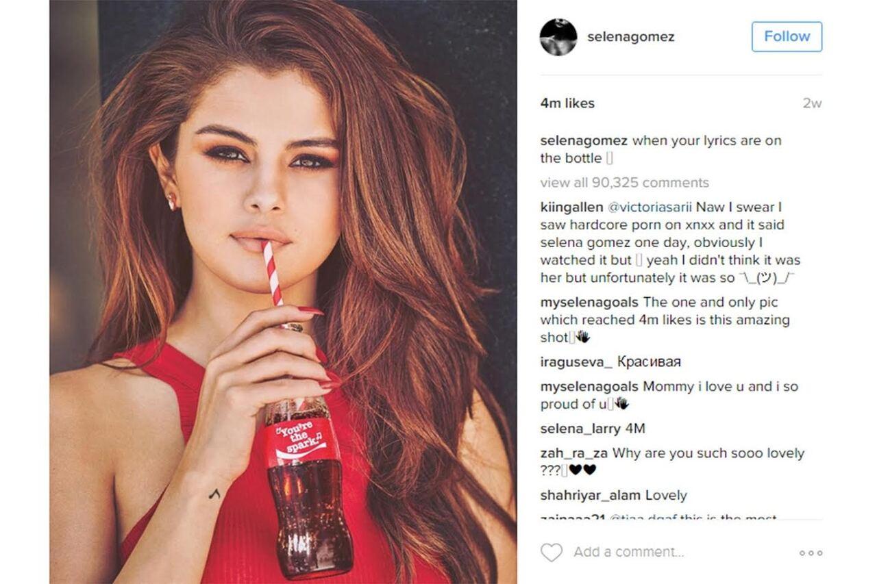 셀레나 고메즈의 코카콜라 관련 게시물