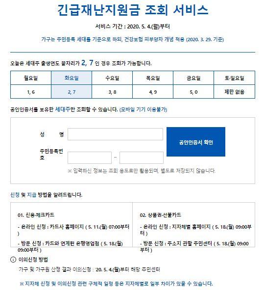정부 긴급 재난지원금 조회사이트 가구원수 가족관계 변동 지급수단별 신청방법, 사용처 총정리
