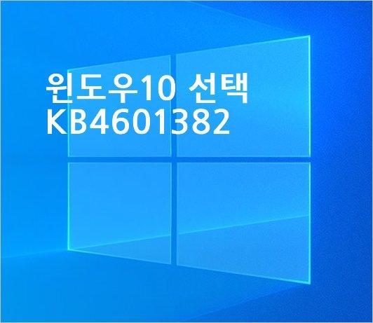 윈도우 10 20H2 선택적 업데이트 KB4601382