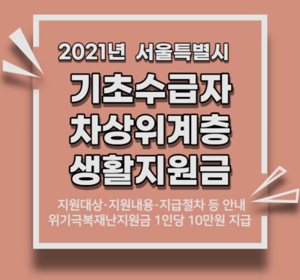 서울시 재난지원금 취약계층