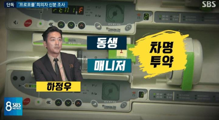 sbs-뉴스-하정우-프로포폴-동생-매니저-차명투약-방송사진