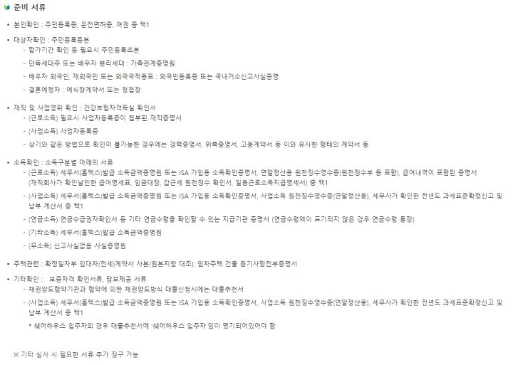 버팀목-전세자금대출-준비-서류