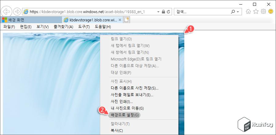 Internet Explorer 배경 설정