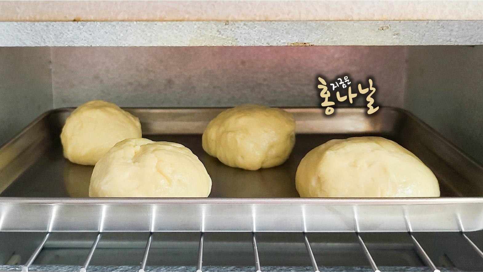 [모닝빵] 오븐에서 빵 굽기