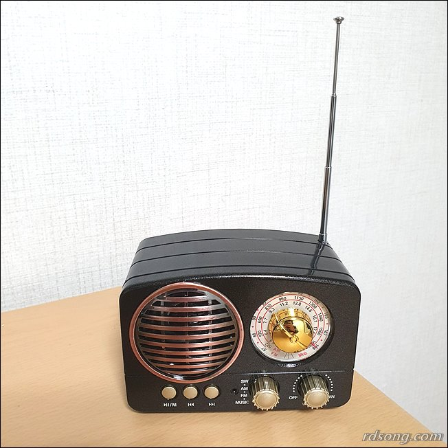 블루투스 스피커 TB280 - 클래식한 휴대용 블루투스 라디오 스피커 후기4