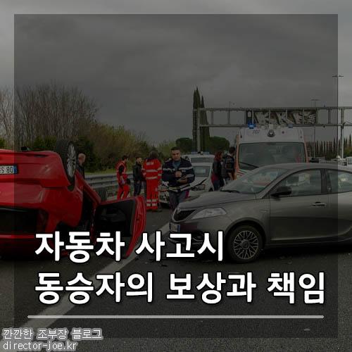 자동차사고 발생시 동승자의 보상과 책임에 대해