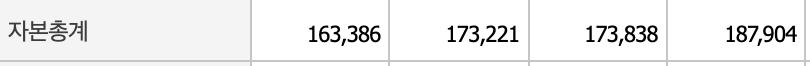 LG화학 자본총계표