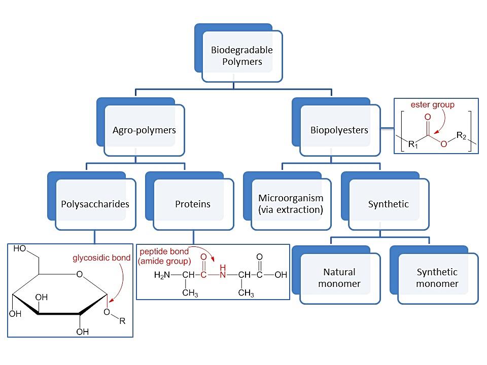 원료와 생산방법에 따른 생분해성 플라스틱 분류