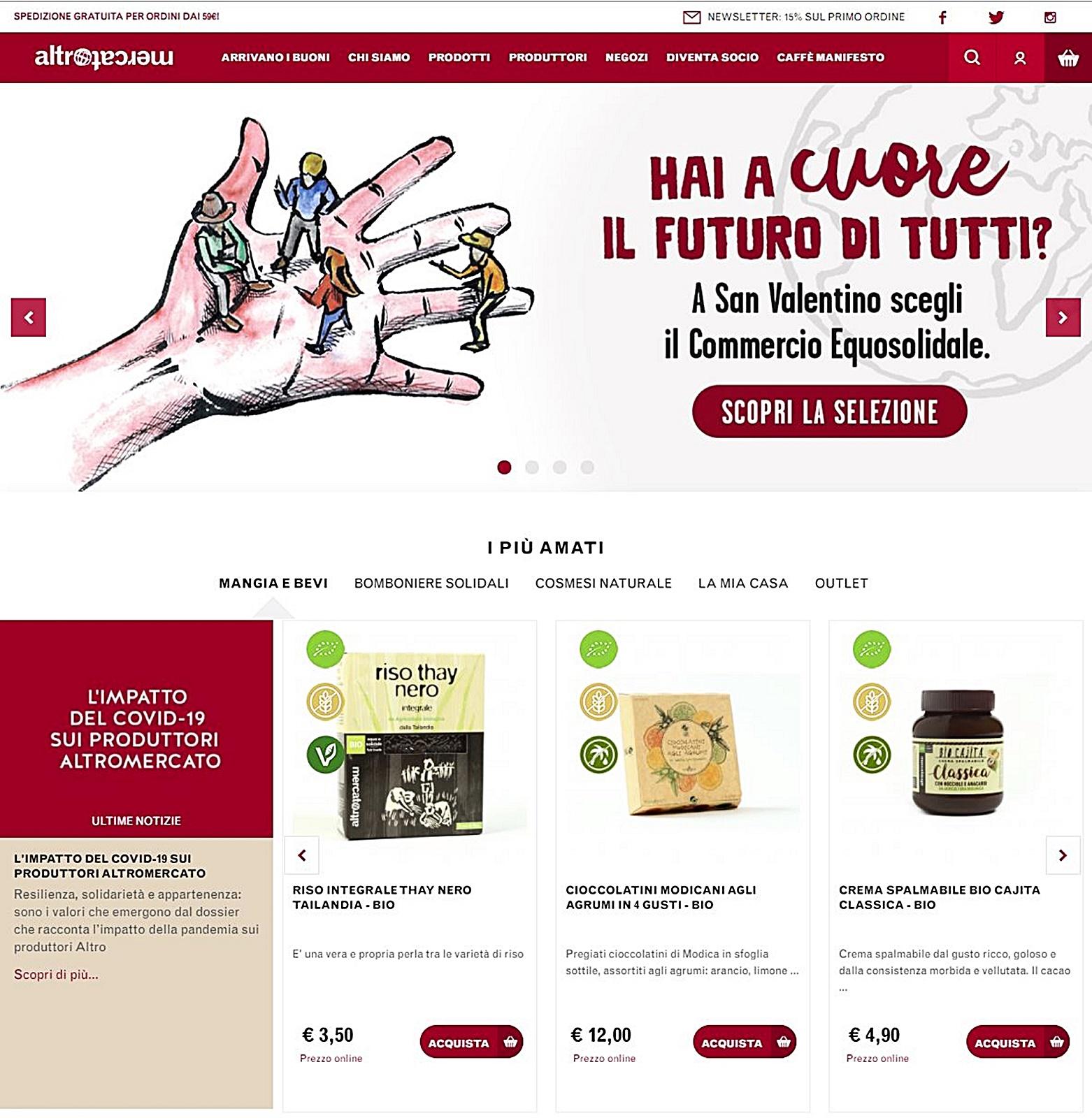 altromercato 홈페이지