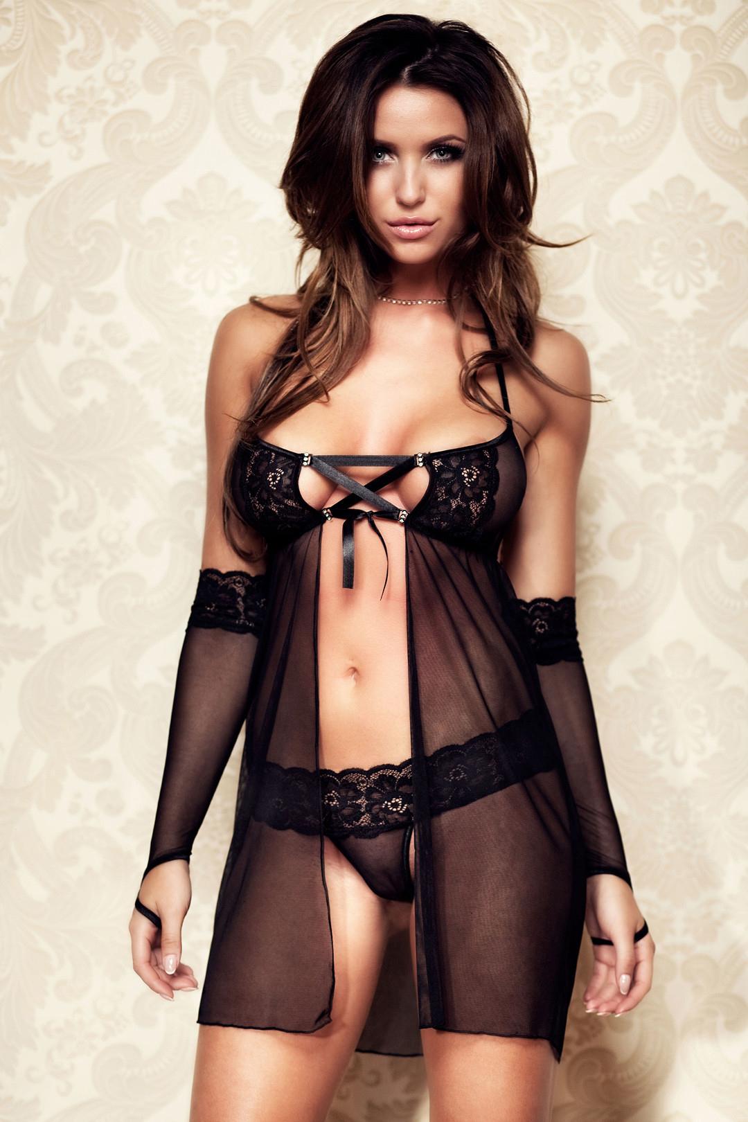 hot women wearing see through lingerie - Monika Pietrasinska