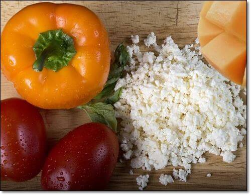 치즈와 토마토