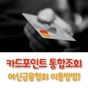 카드포인트 통합조회 여신금융협회 이용방법