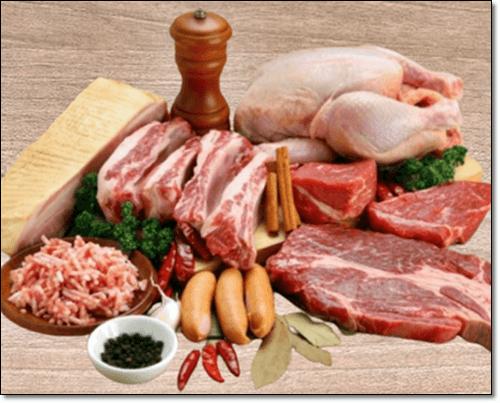 소고기와 닭고기