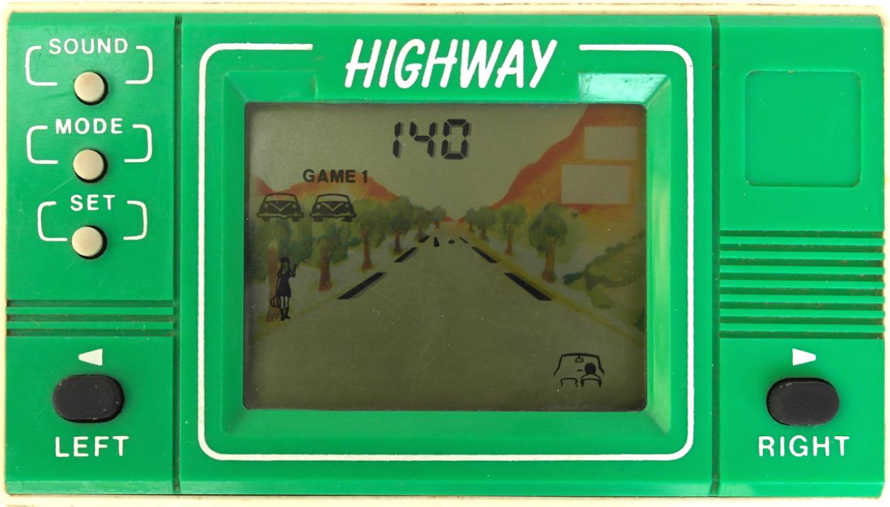 고전 자동차 LCD 게임기