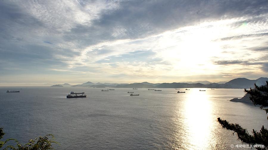 영도노을바다풍경