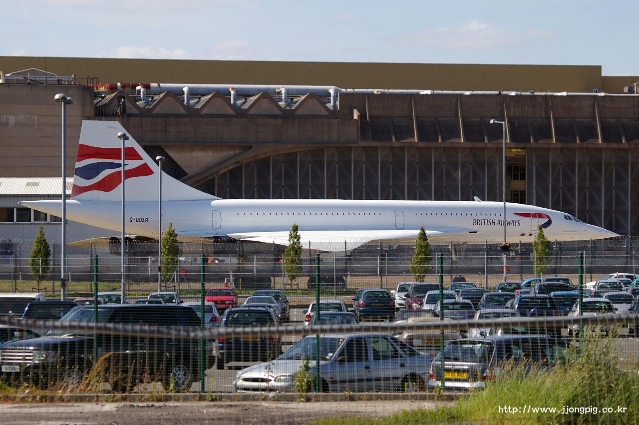 영국 항공 British Airways BA BAW G-BOAB Aerospatiale-BAC Concorde 102 CONC 런던 - 히드로 London - Heathrow 런던 England London LHR EGLL