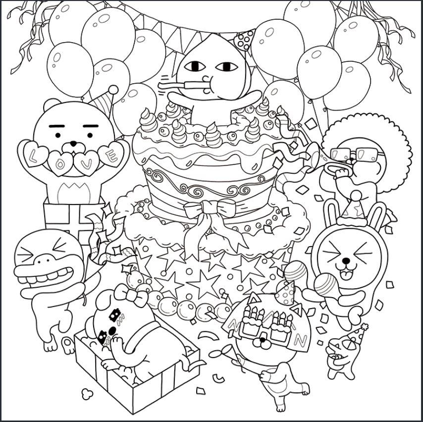 파티하는-프렌즈-도안-다운로드(이미지-출처: http://papastore.co.kr/)