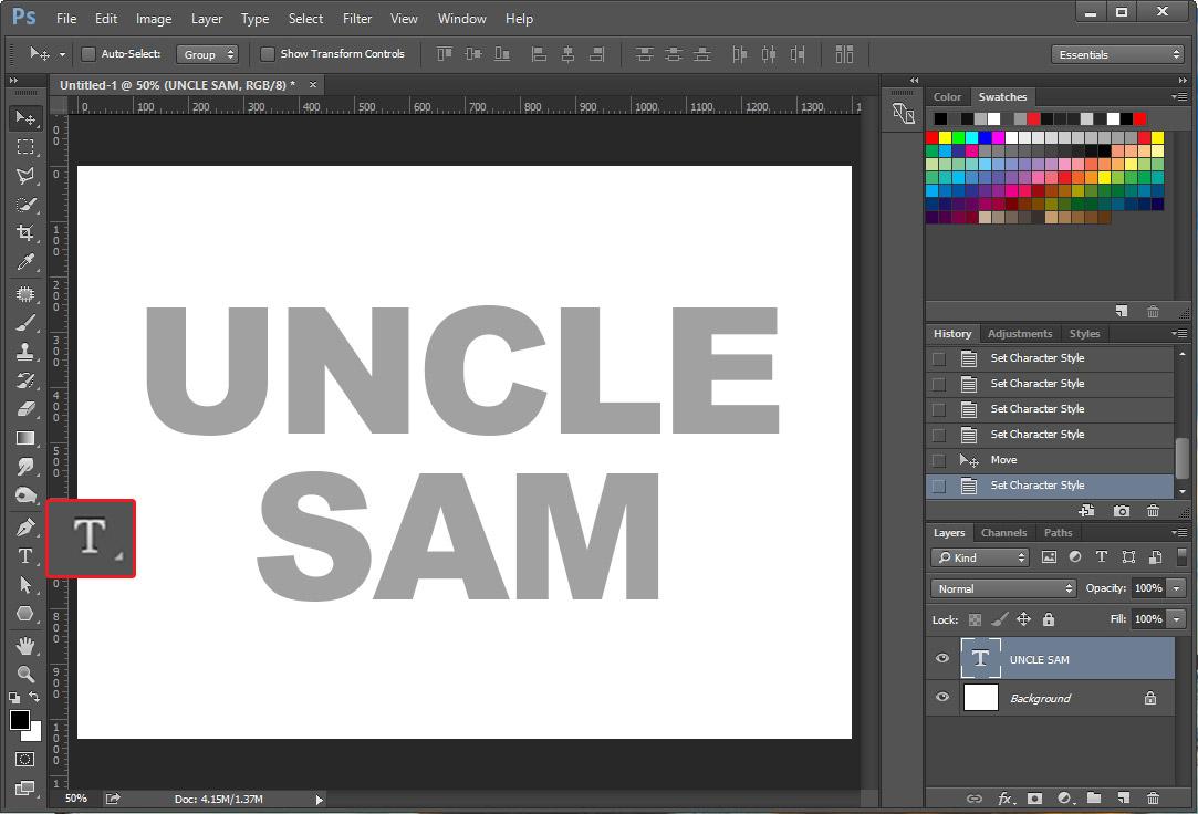 photoshop text effect