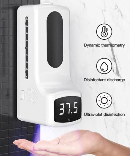 비접촉 자동 손소독 온도측정 디스펜서 k9-pro