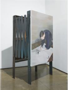 'Tango 소수의 규칙 2', oil on canvas, 철 구조물, 가변 크기, 2013