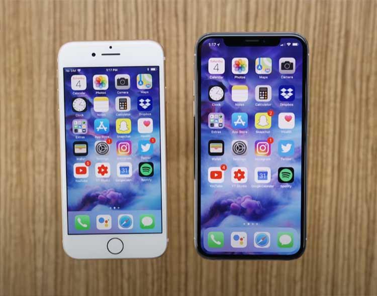 아이폰 8과 아이폰 x