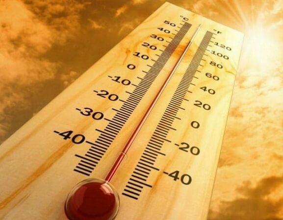 온도-온도계-온도표시-태양-하늘-구름