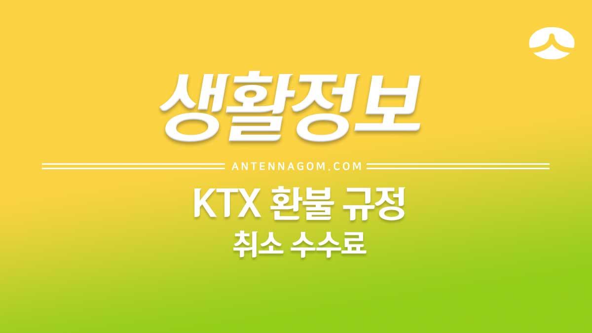 KTX 환불 수수료