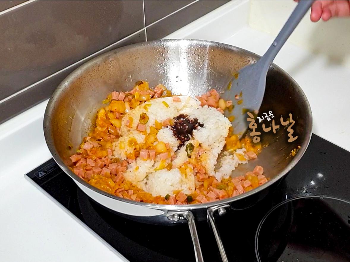 [양파밥] 굴소스 넣기