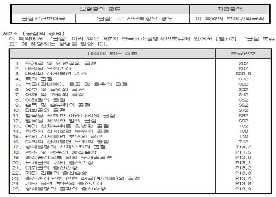 골절분류표