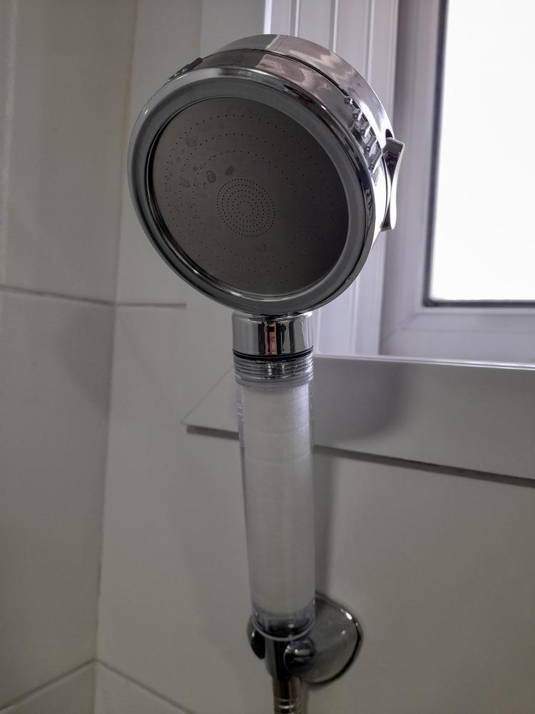 파워수압 필터 샤워기 헤드로 교체