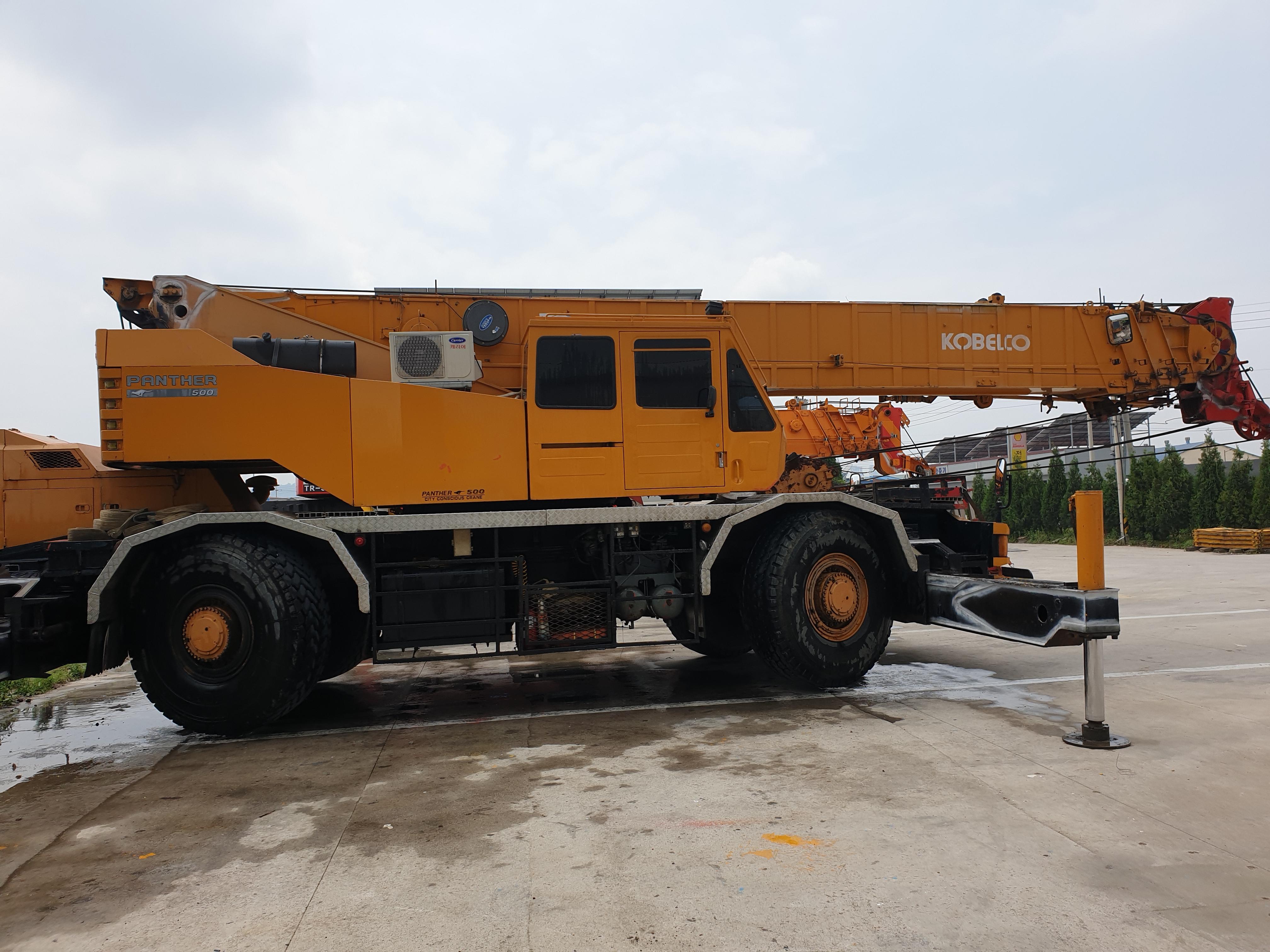 Crane Rough Terrain, RT crane, 45ton, KOBELCO, RK450, Model-Panther500, 1990year,  working condition,    smgyo@naver.com,        중고 험지형 크레인 매매 수출,  중고 맹꽁이 크레인 수출문의 매매문의,   코벨코,  45톤,  RK450..