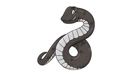 검은 뱀은 좋지 않은 꿈