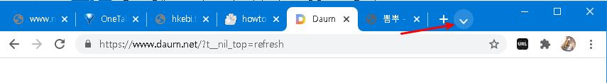 크롬브라우저 탭 검색 기능
