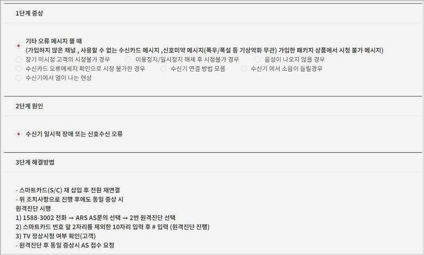 스카이라이프 신호미약
