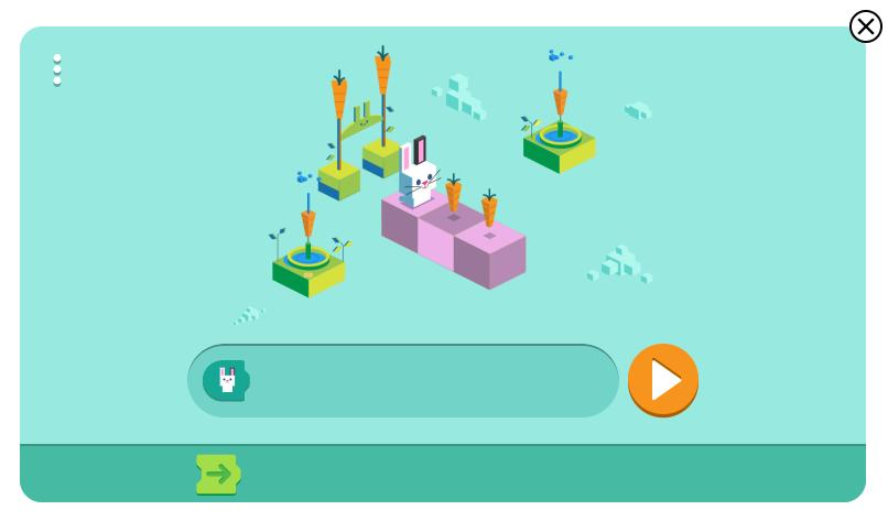 구글 토끼 코딩 게임