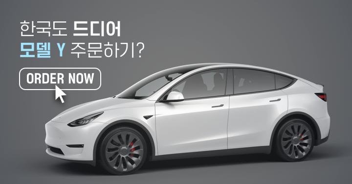 한국, 드디어 테슬라 모델Y 판매 시작? 주문하기 버튼 등장...!