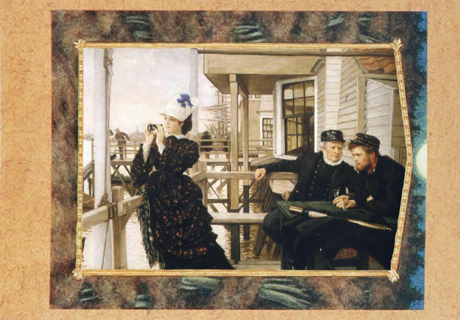'The Captain's Daughter', James Tissot, oil on canvas, 66×99cm, 1873