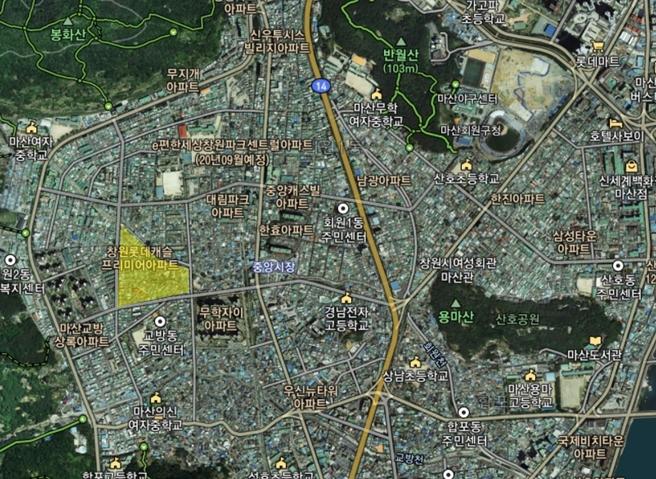 창원시 마산 회원1지구 재개발지역 이야기 - 1