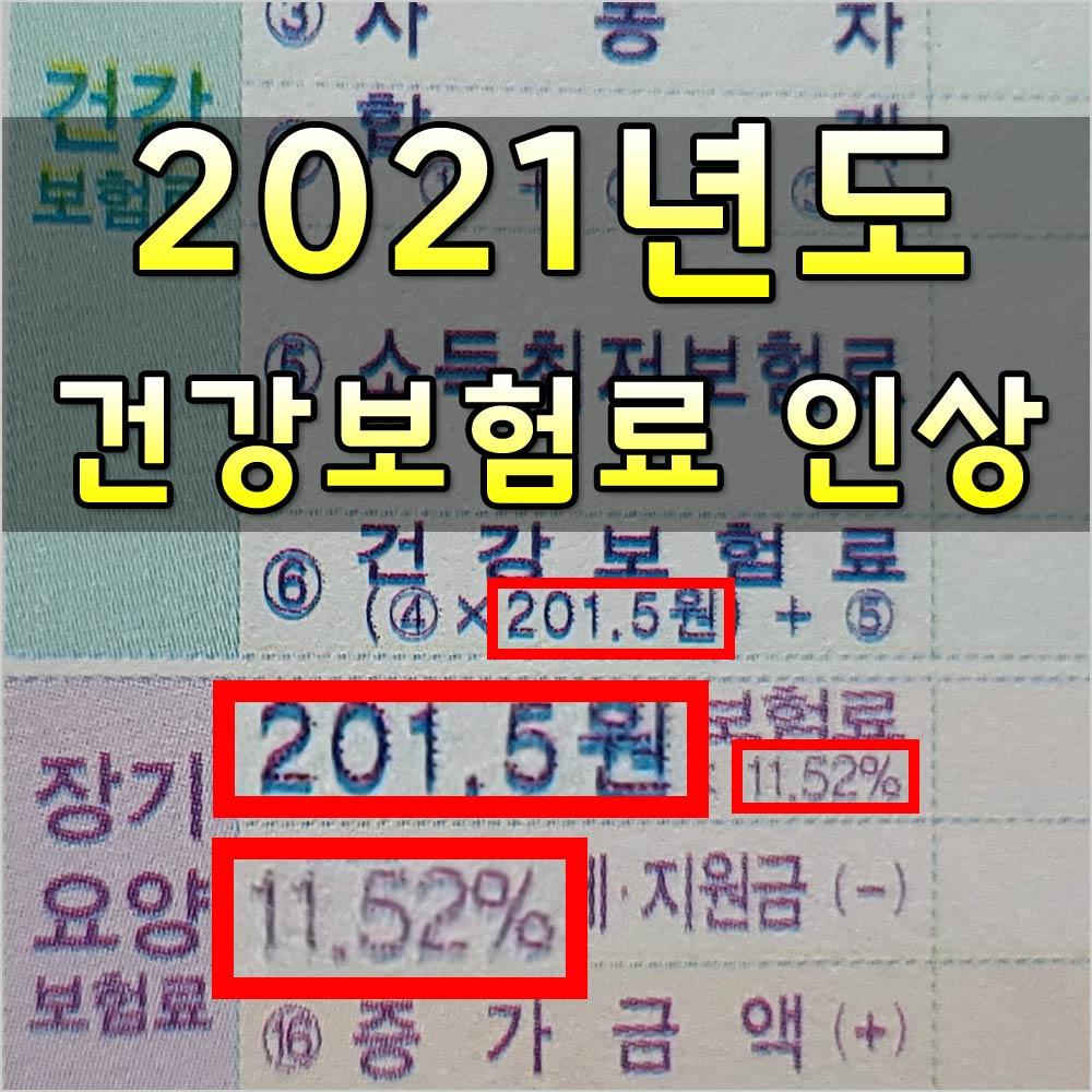 2021년건강보험료인상
