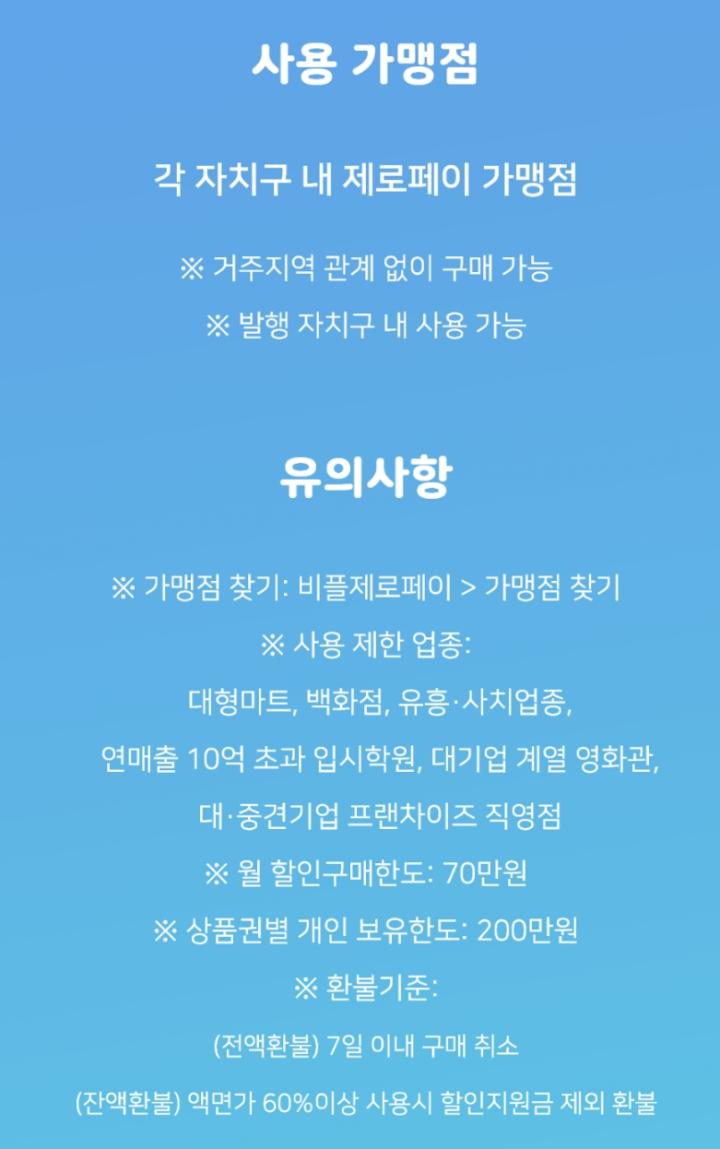 서울사랑상품권-사용처